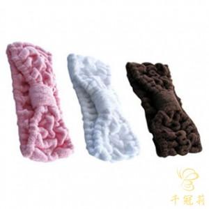 CKL毛巾布蝴蝶结头巾