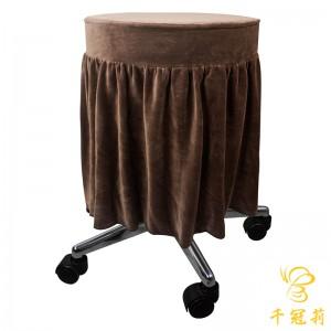 天鹅绒裙边圆椅套