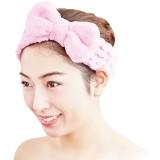 珊瑚绒蝴蝶结头巾