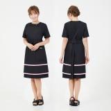 双层织带围裙
